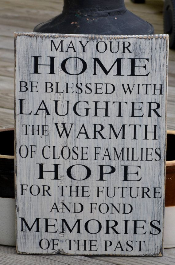 Decorative Signs For The Home Alluring Rustic Wood Sign Home Blessing Home Decor Hand Painted Sign Design Inspiration
