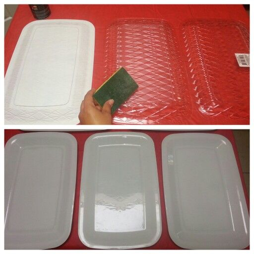 Plastic Serving Trays From Dollar Tree Scuff Underside And