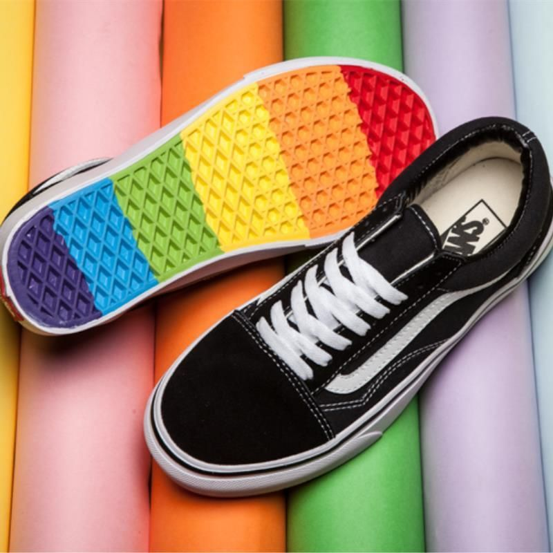 1b540e6008d Wholesale cheap men shoes brand -vans old skool skate shoes classic mens  sneakers skateboarding rainbow