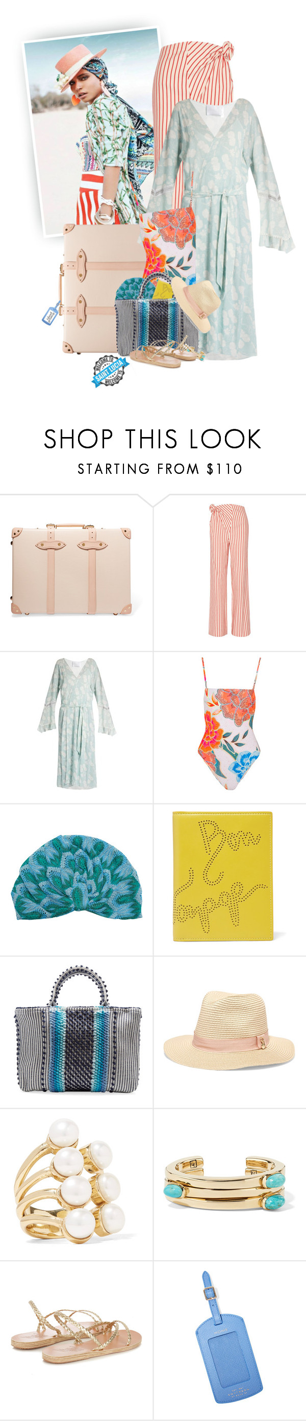 """""""You Know That I Want To Get Away, I Cannot Wait For Another Day..."""" by hollowpoint-smile ❤ liked on Polyvore featuring Globe-Trotter, Rosie Assoulin, Athena Procopiou, Mara Hoffman, Missoni Mare, Smythson, Antonello Tedde, Melissa Odabash, Cornelia Webb and Lisa Eisner"""