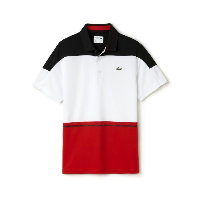 8e92f59464f Polo tricolor Tennis Lacoste SPORT em piqué técnico
