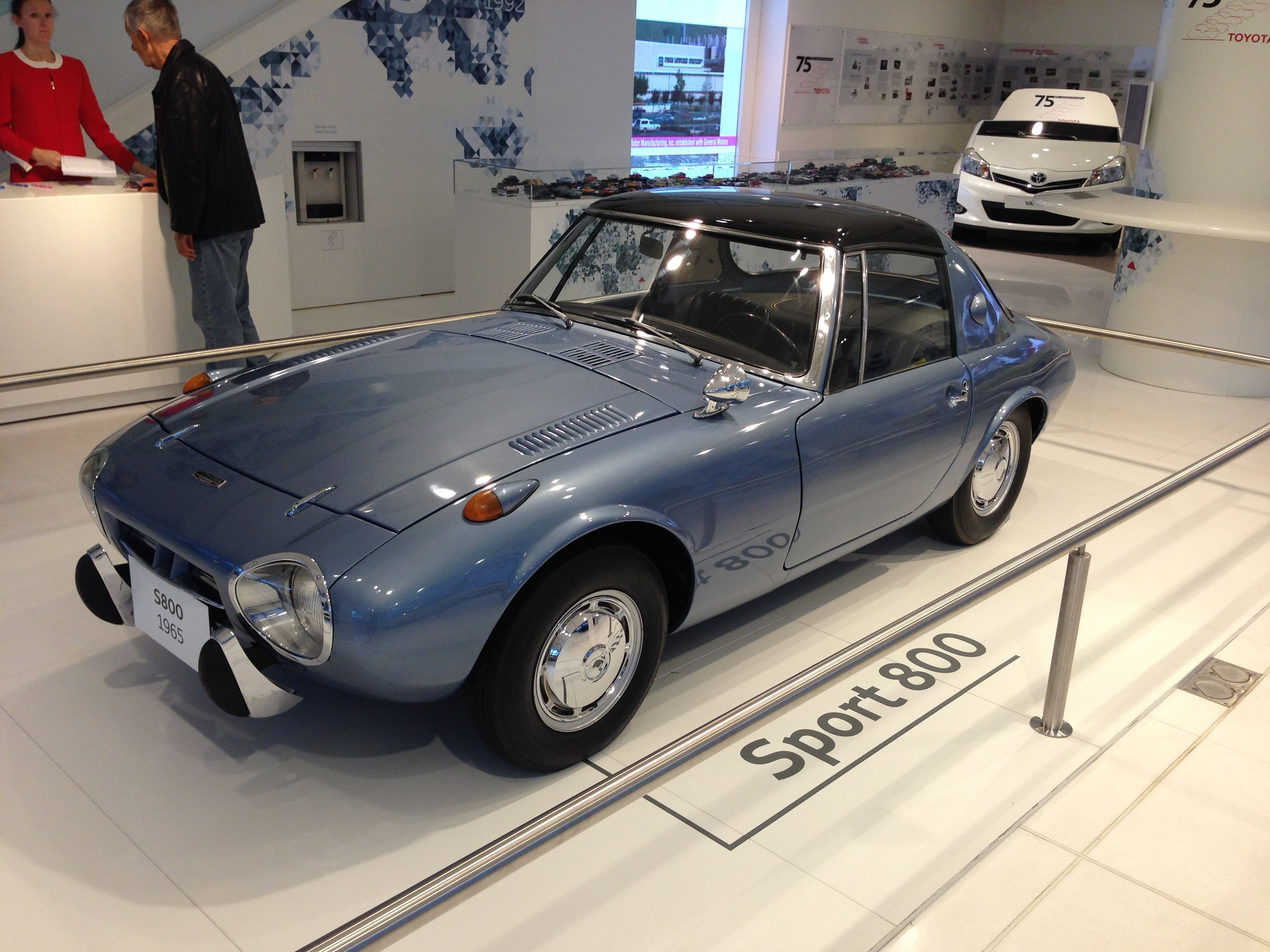 CarsBikesPhotography Music Car Vintage Toyota Sport 800 In Their Paris Showroom Celebrating 75 Years