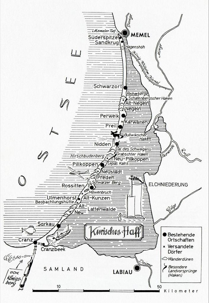 002 Kurische Nehrung Karte Alternate History Klaipeda History