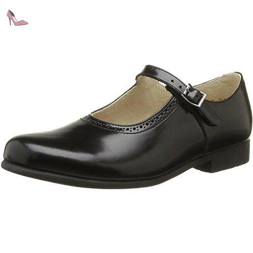 Start Rite Burford, Chaussures de ville fille - Noir (Black Leather), 32 EU
