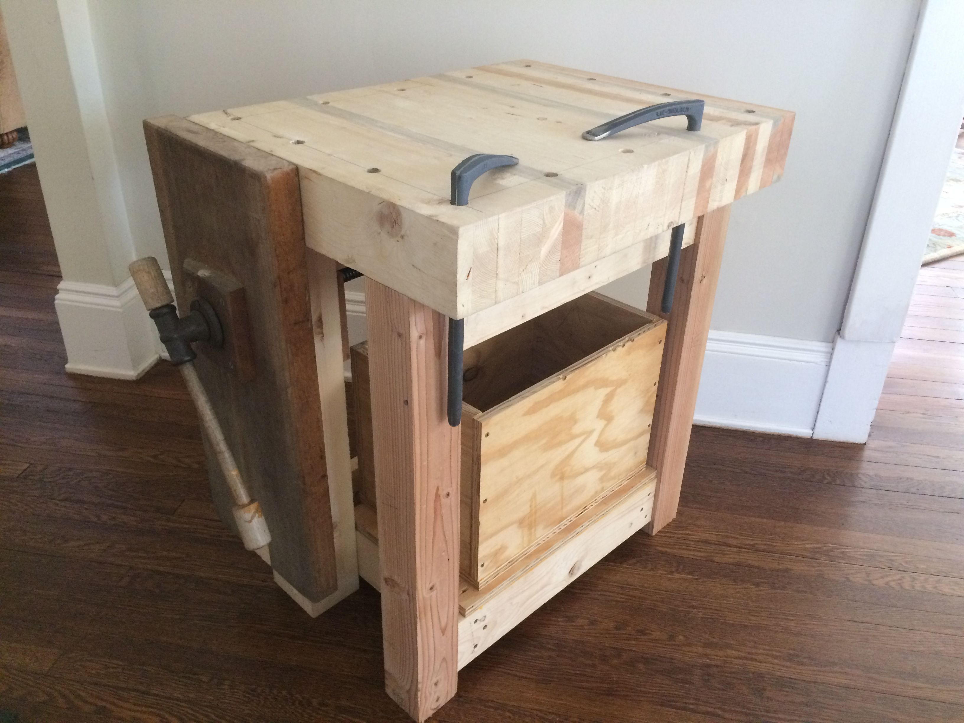 Windsor Seat Carving Workbench Based On Picture From The Website