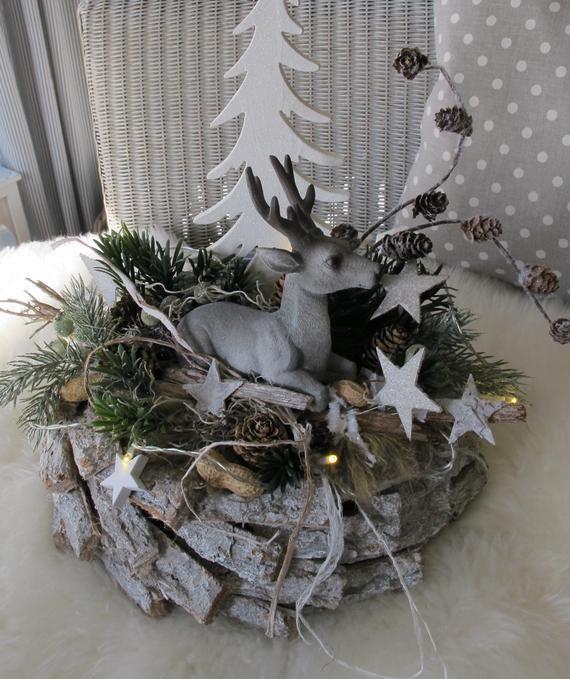 led beleuchteter nat rlicher adventskranz waldesruh. Black Bedroom Furniture Sets. Home Design Ideas