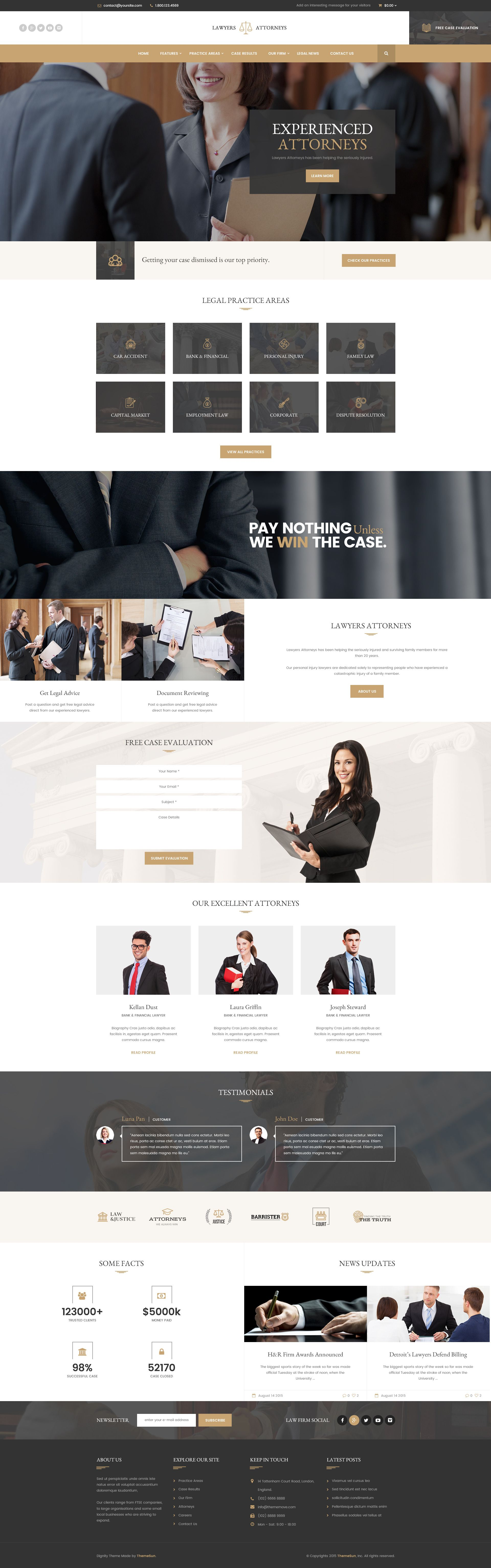 Lawyer Attorneys - Modern Law Firm PSD Template   Psd templates and ...