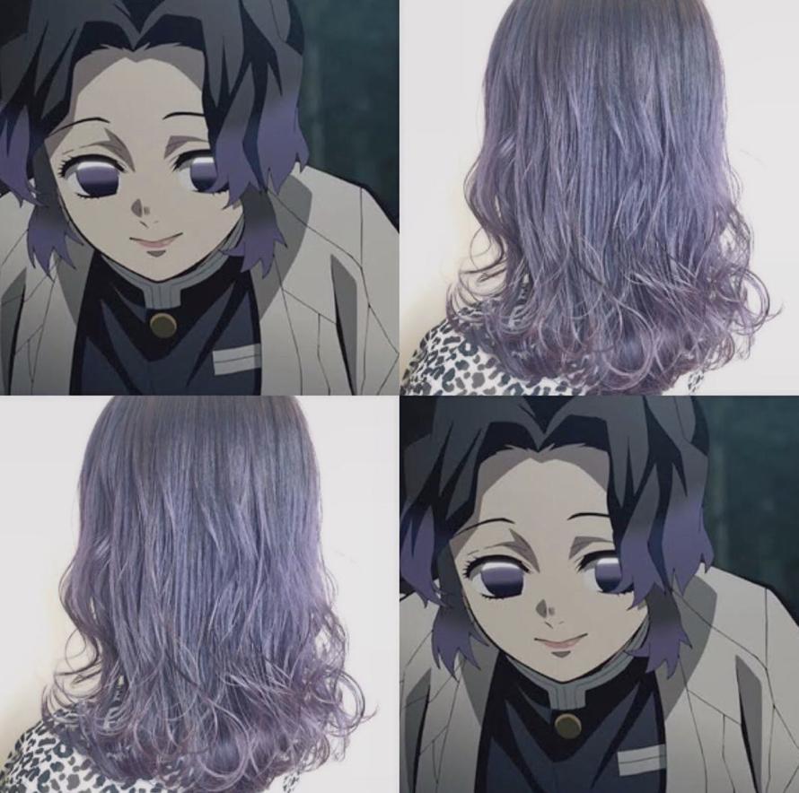 髪型 髪色 グラデーションカラー インナーカラー ハイライトカラー グレージュ アニメ anime キャラクター ラベンダー パープル バイオレット 紫 派手髪 コスプレ cosplay 髪 色 ハイライトカラー 紫 ヘアカラー