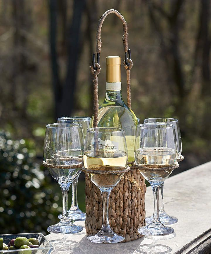 Great wedding giftseagrass wine tote glass gift set