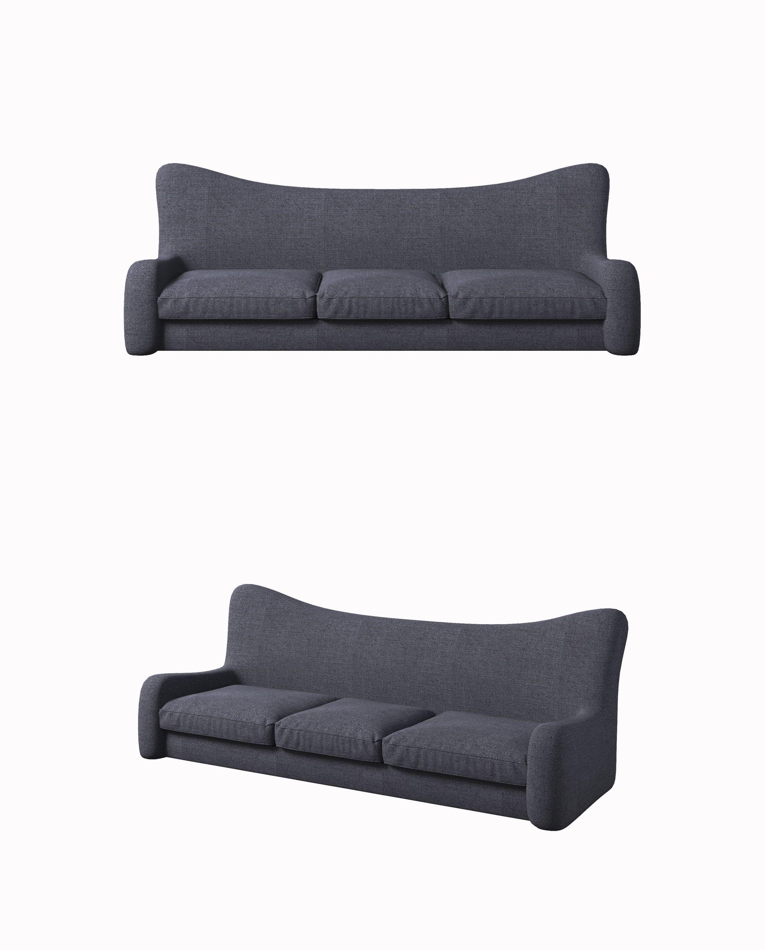 Contemporary Style Sofa Gray