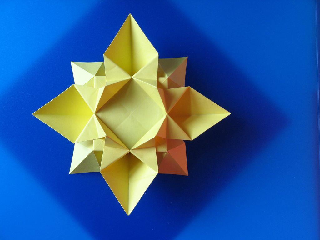 Origami Diagrams Tutorial Fiore O Stella 2 Flower Or Star By Flowers Francesco Guarnieri