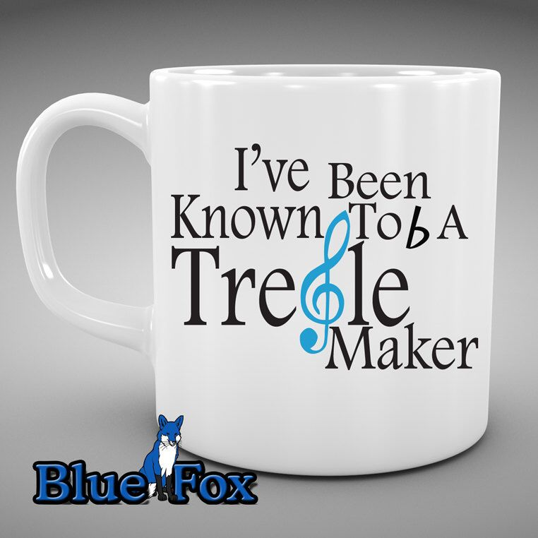 Funny Coffee Mug,I've been known to b a treble maker, Music Lovers, Music Teacher gift, Musician, Coffee Mug, By Blue Fox Gifts * 208 by BlueFoxGifts on Etsy https://www.etsy.com/listing/182497895/funny-coffee-mugive-been-known-to-b-a