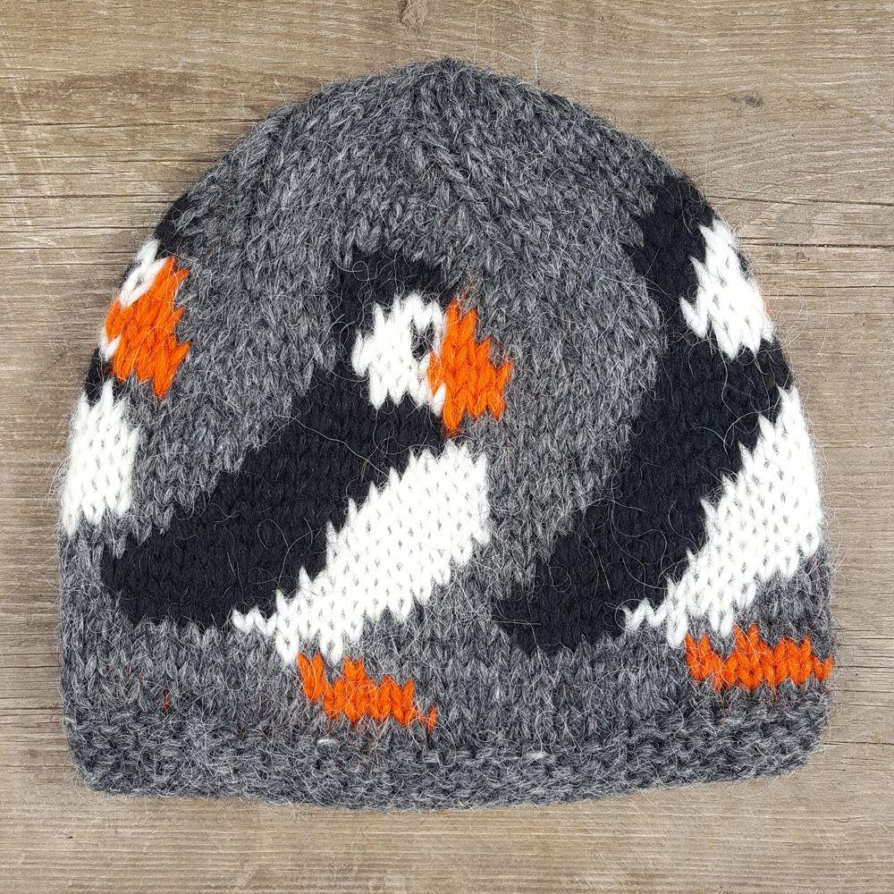 b14004fcac8 Dark grey puffin wool hat handknitted in iceland with icelandic wool puffin  iceland icelandicwool jpg 1000x1000