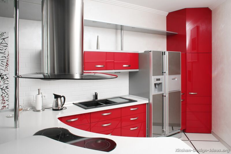 Pictures Of Kitchens Modern Red Kitchen Cabinets Kitchen 3 Red Kitchen Kitchen Remodel Small Kitchen Remodel