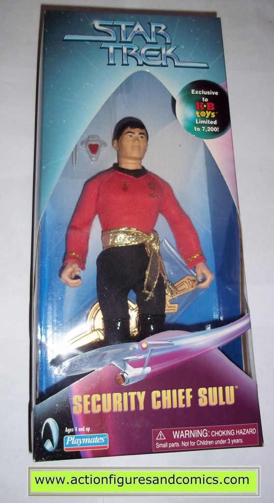 Playmates Toys STAR TREK original classic series 9 inch collector series action figures for sale to buy 1998 kb toys exclusive, SECURITY CHIEF SULU mirror mirror NEW - still factory sealed in the orig