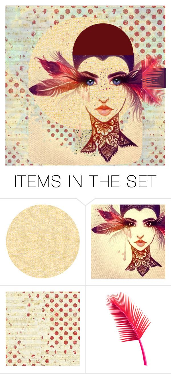 """feathered freckles"" by jazzy ❤ liked on Polyvore featuring art"