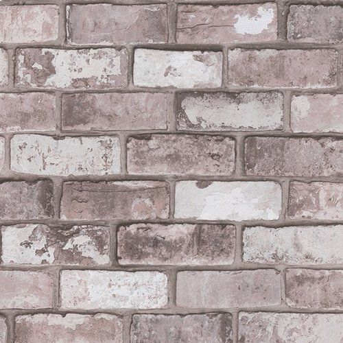 Borough Wharf 10m X 52cm Wallpaper Brick Wallpaper Grey