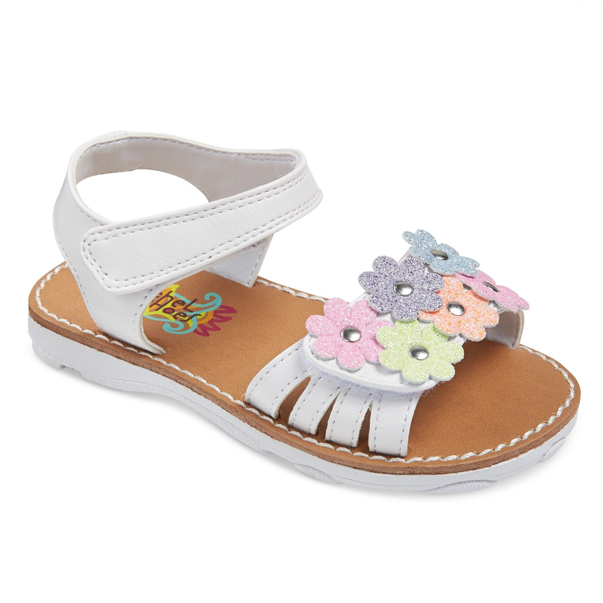 2bf4f1bff2ee Toddler Girls  Rachel Shoes Shea Floral Sandals - White Shimmer 12 ...