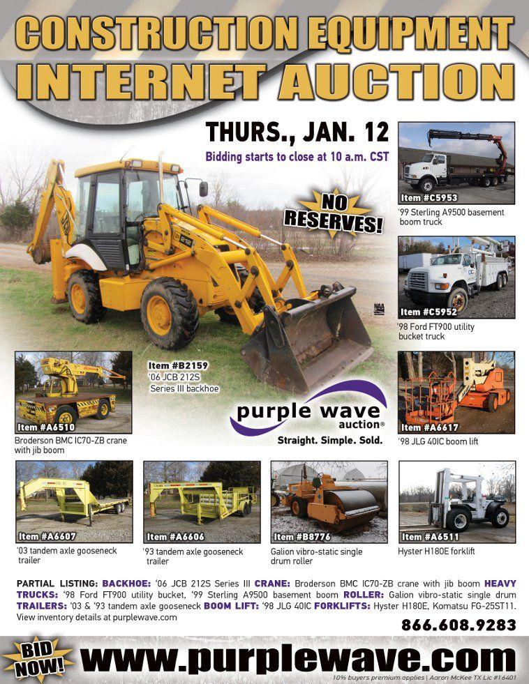 Construction equipment auction january 12 2012 httpwww