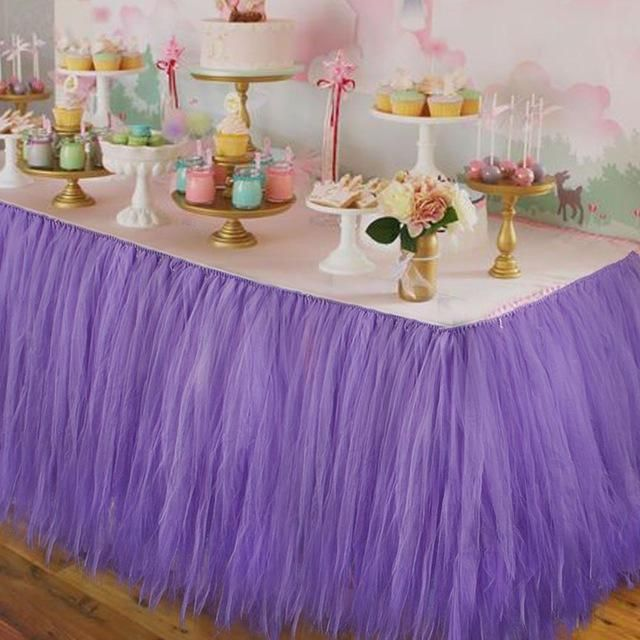 Ourwarm wedding table skirt table decoration accessories tulle tutu ourwarm wedding table skirt table decoration accessories tulle tutu table skirt baby shower birthday party decorations junglespirit Images