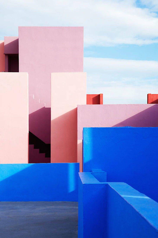 Multicolored Architectural Photography in Spain is part of architecture House Colonial Home Plans - Adepte des clichés architecturaux, la photographe suédoise Jeanette Hägglund a sembletil trouvé un terrain de jeu à son goût dans la ville de La Manzane