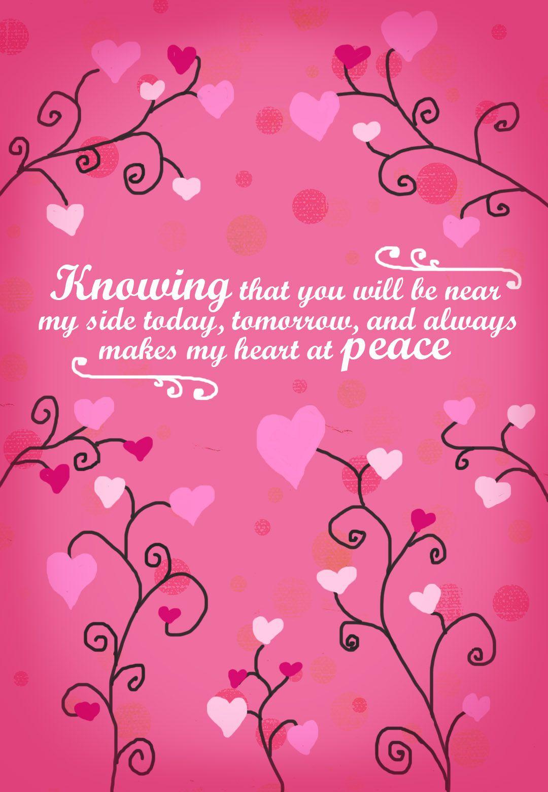 Free Printable Makes My Heart At Peace Greeting Card Love Cards Cards Printable Cards