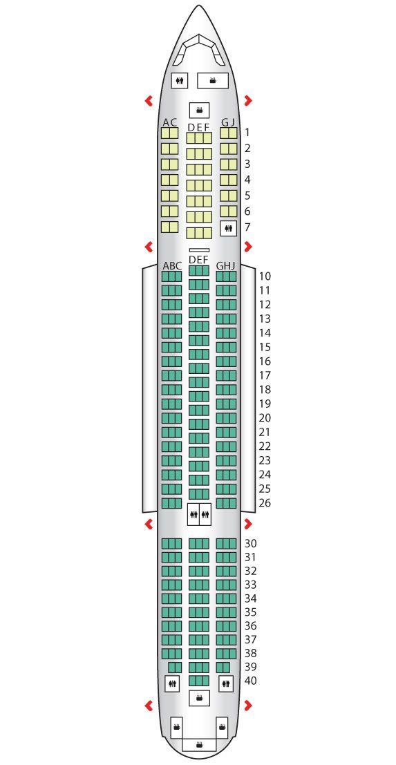 B787 Dreamliner Thomson Airways Seat Maps Boeing 787
