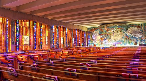 Stained Glass And Mosaic Catholic Chapel Air Force Academy