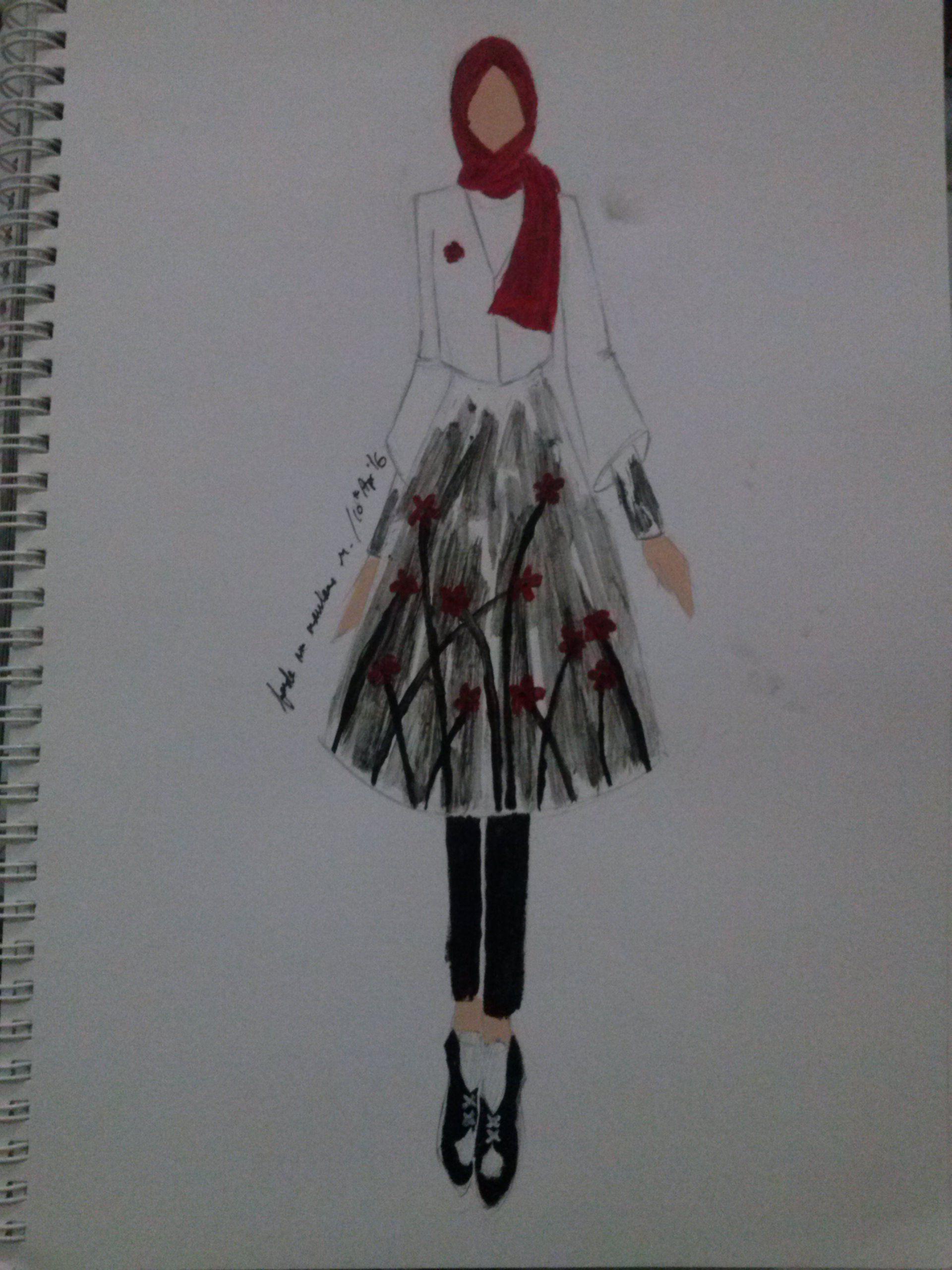 37 Gambar Fashion Illustration Terbaik