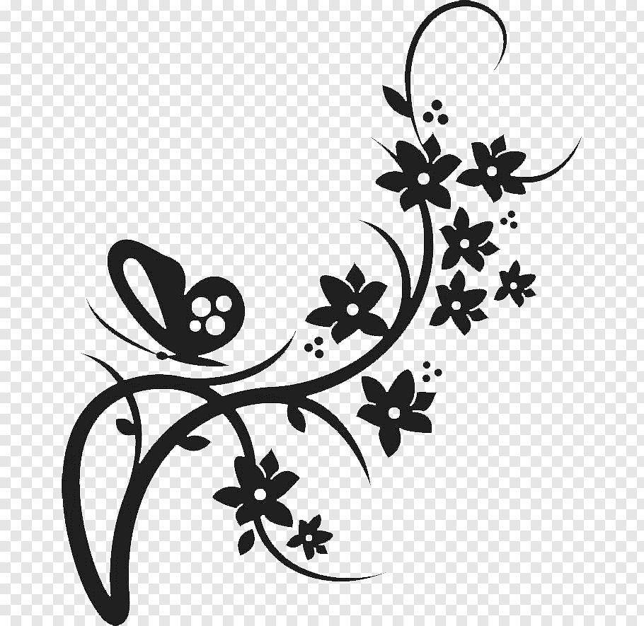 Flower Border Clipart Black And White Ideas In 2021 Flower Border Clipart Clipart Black And White Clip Art Borders
