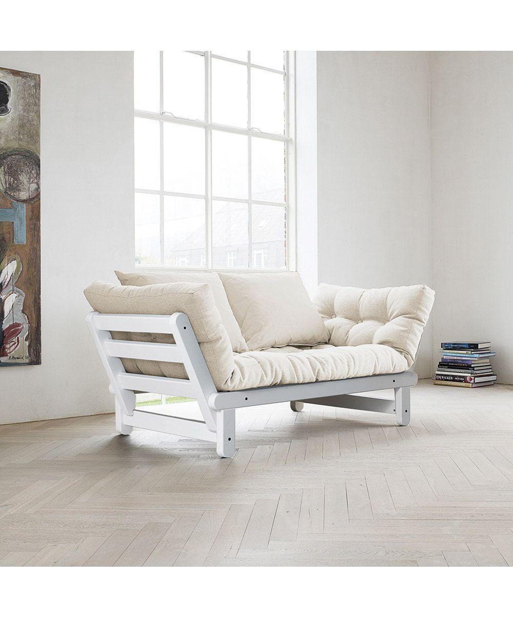 fresh futon white  natural beat futon  zulily  style  - fresh futon white  natural beat futon  zulily