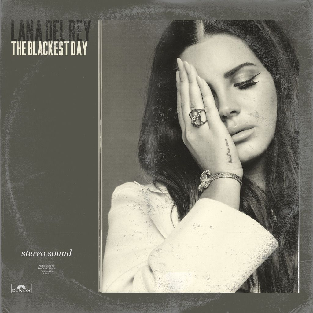 Lana Del Rey LDR The_Blackest_Day Old Vinyl Sleeve (With