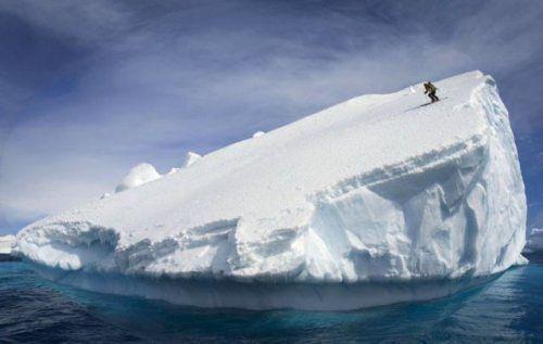 Iceberg Skiing