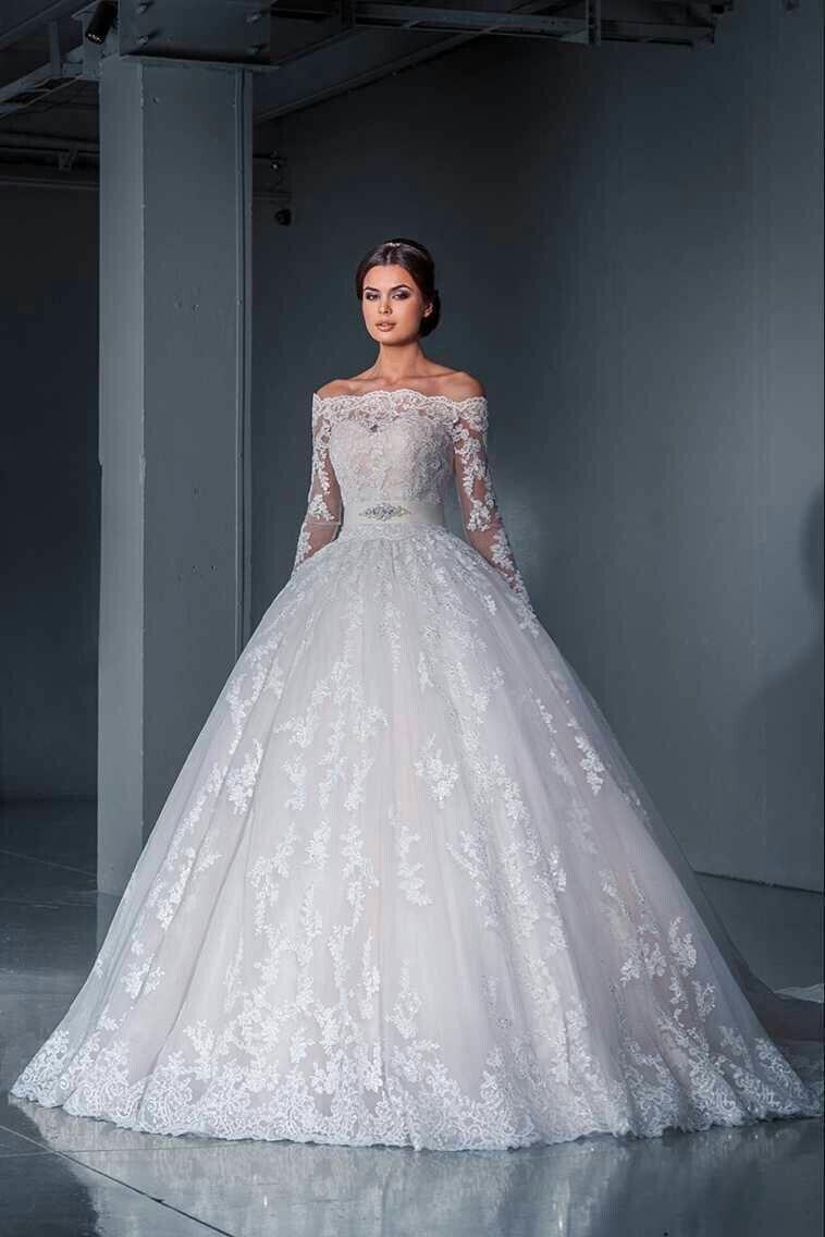 Long sleeve ivory wedding dress  Pin by Diana Suvorova on Свадебные платья  Pinterest
