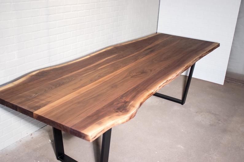 Large Live Edge Walnut Table 8 Foot Live Edge Dining Table Etsy Live Edge Walnut Dining Table Live Edge Dining Table Dining Table