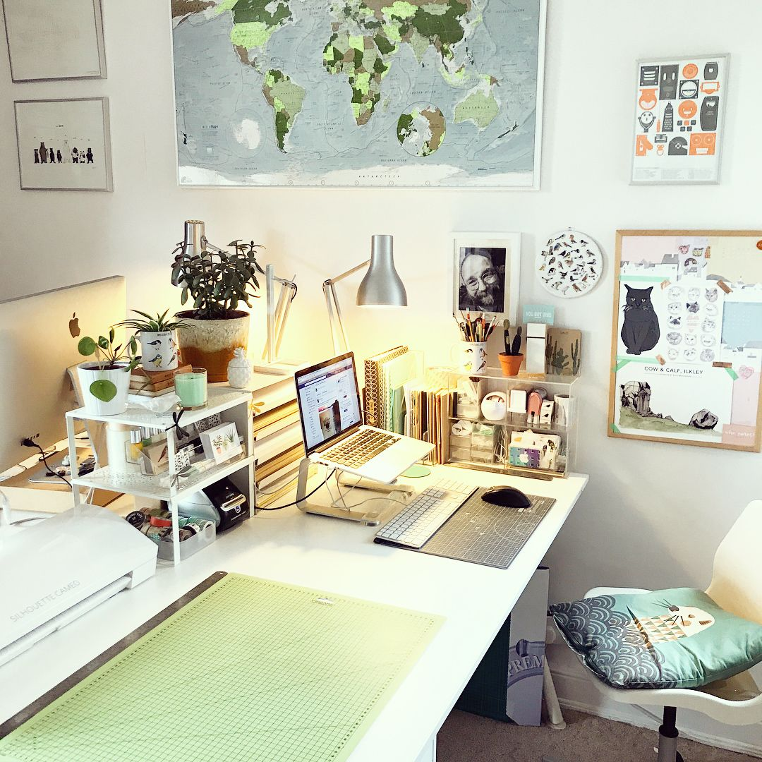 Workspace Ideas Desk Ideas Artist Studio Desk Space Desk Organisation Home Office Bedroom Desk Organization Big Bedrooms Work Desk Organization