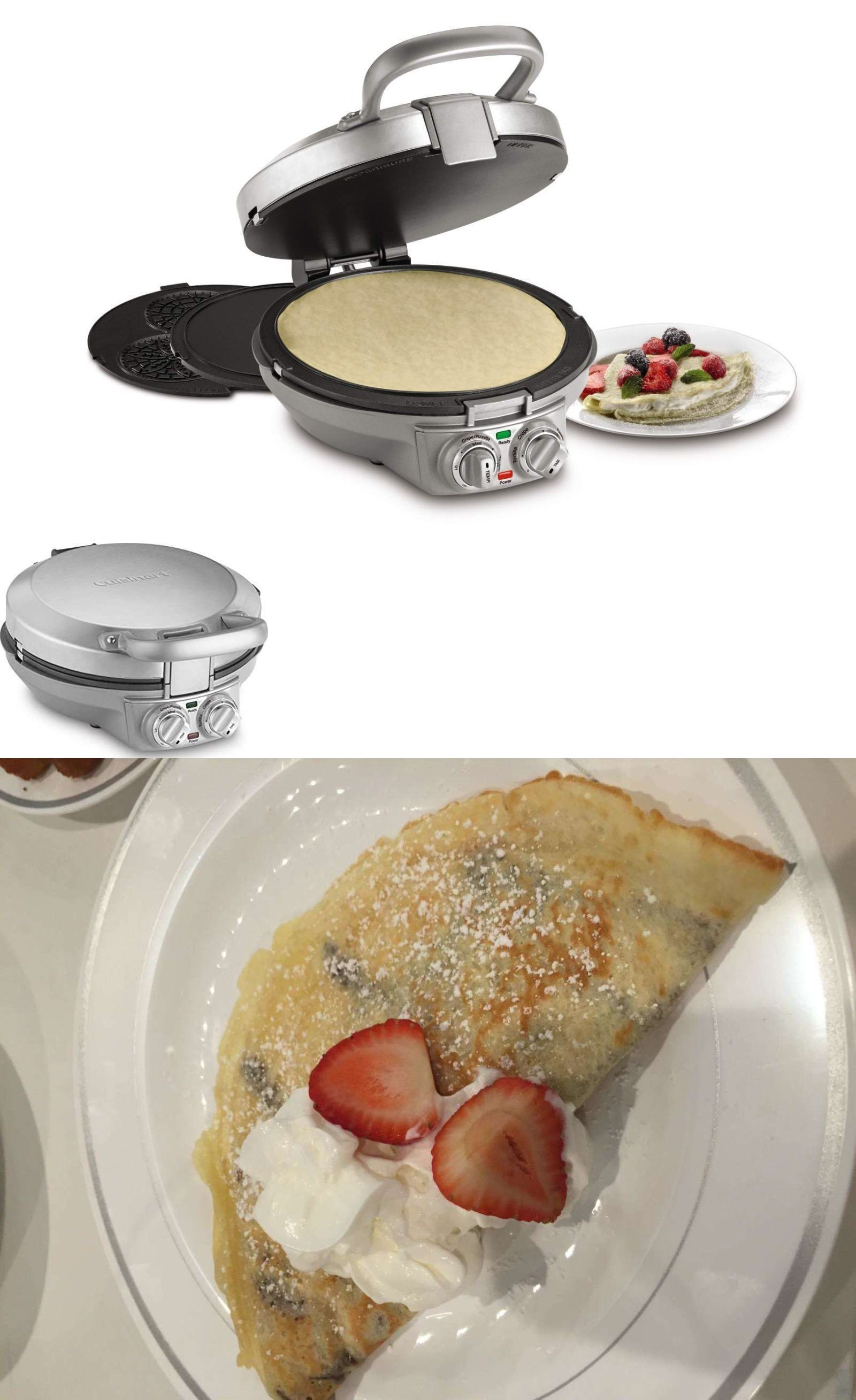 Machine and Pizzelle Pancake Tortillas Maker Non Stick Stainless Steel Machine