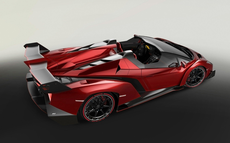 Lamborghini veneno roadster red cars hd wallpaper