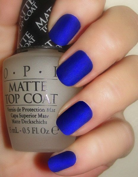 OPI Royal Blue Matte Manicure Opi St Marks The Spot Top Coat Nail Polish With Easy Instructions