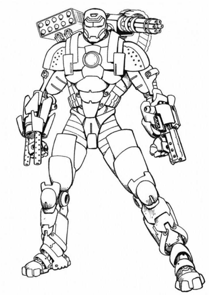 Ironman Coloring Pages Enjoy Coloring