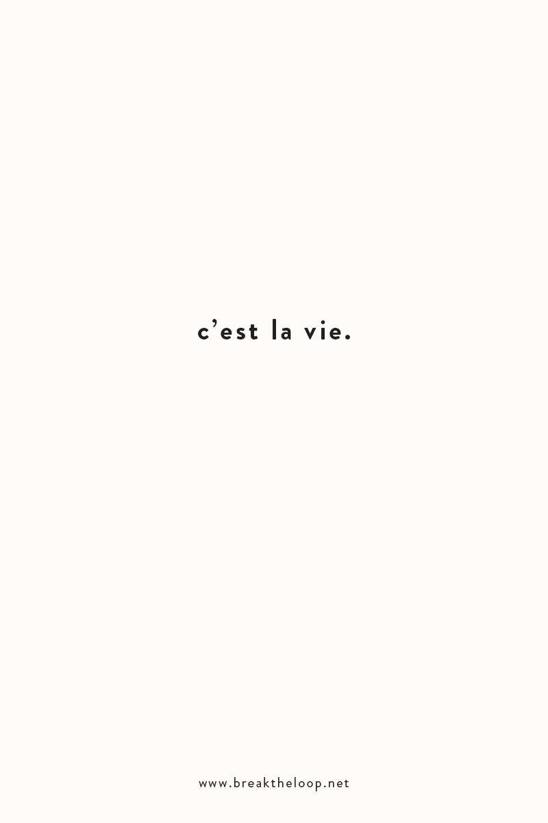 C Est La Vie Phrase Tattoos French Word Tattoos Inspirational
