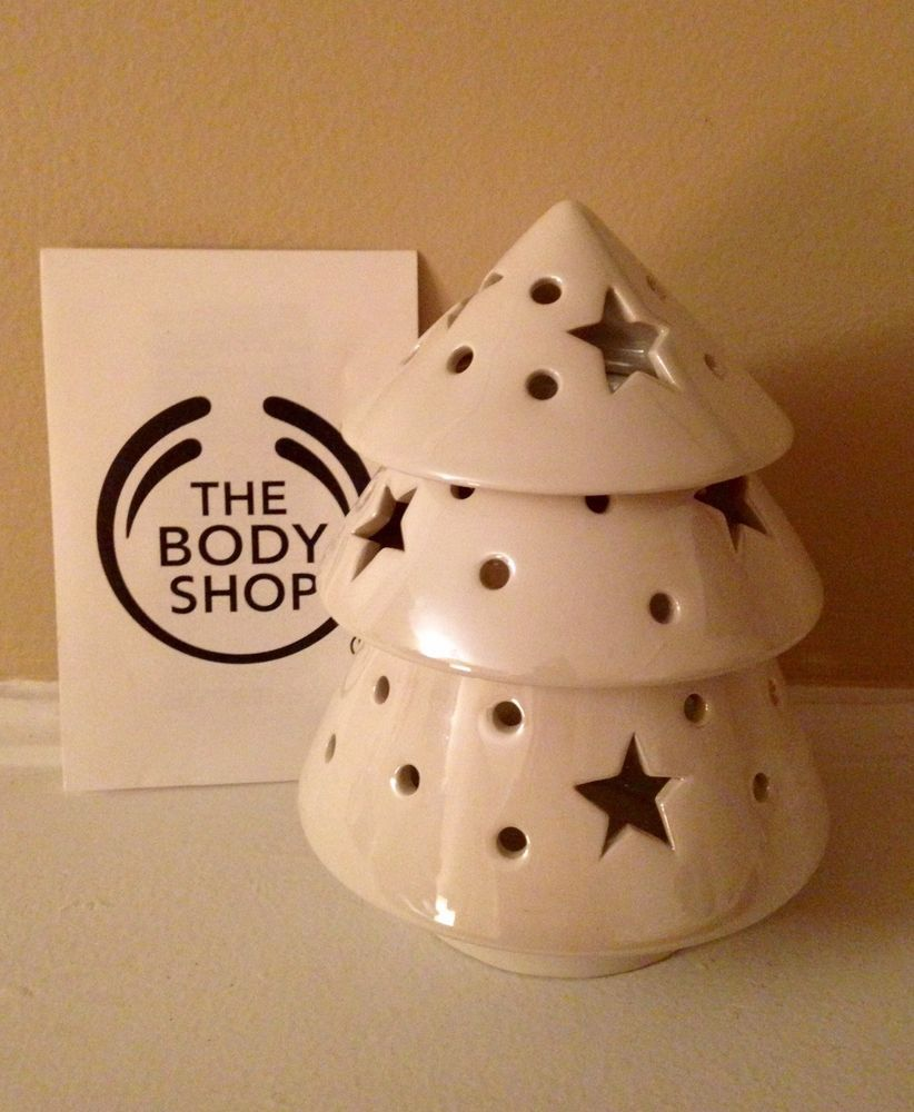 Rare Hard To Find The Body Shop Christmas Tree Oil Warmer Diffuser Essential Oil Ebay Oil Warmer Star Candle Oil Candles