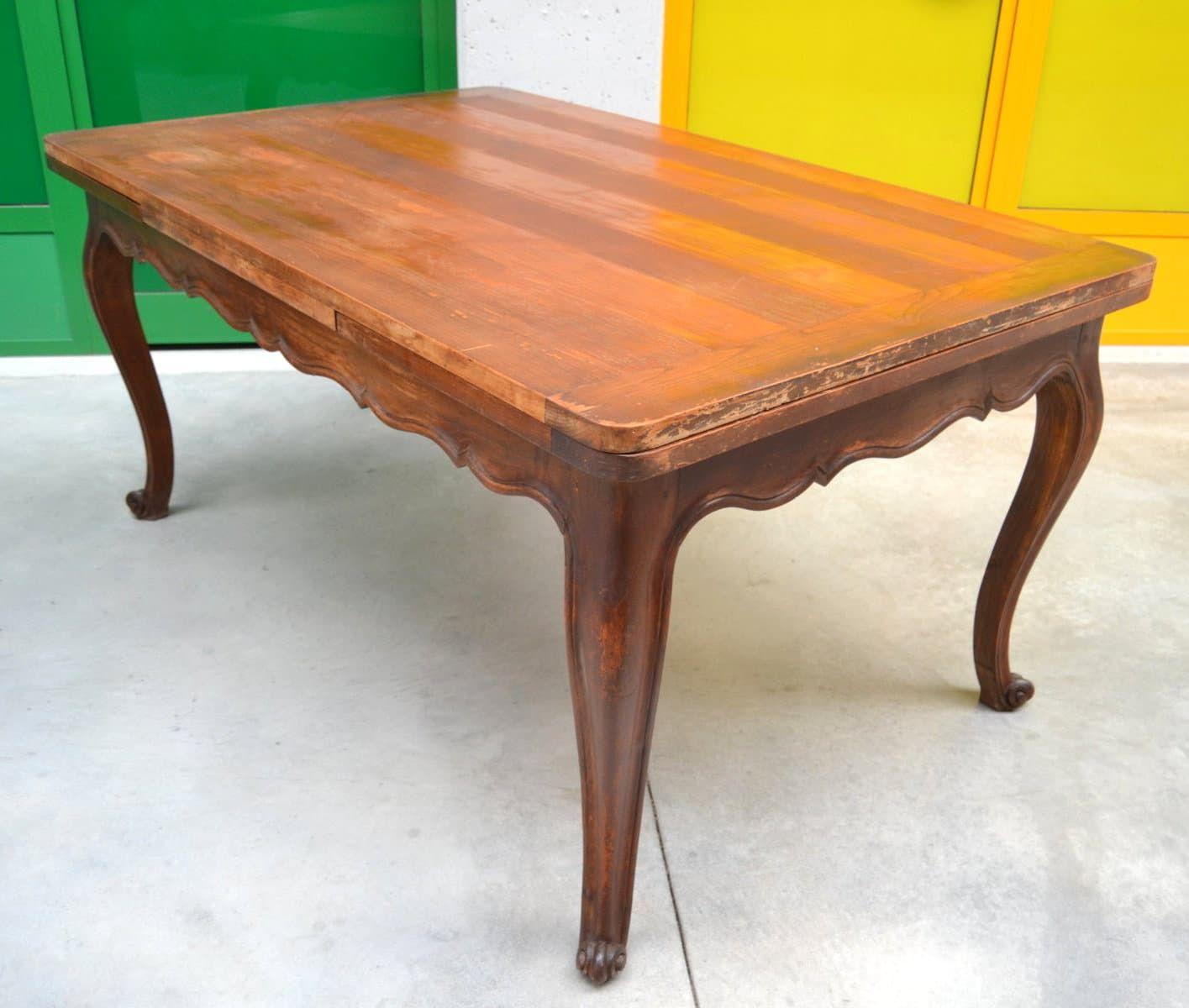 Tavolo provenzale in noce in stile Luigi XV allungabile a 260 cm ...