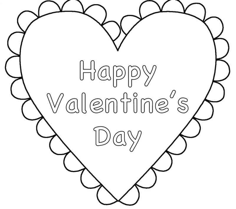 Happy Valentines Day Coloring Pages Heart Valentines Day
