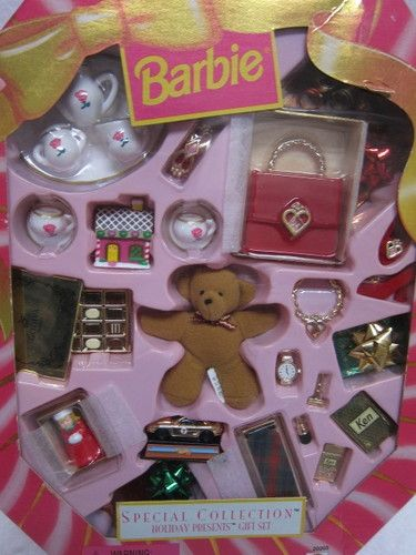 Barbie Holiday Christmas Gift Set #barbiefurniture