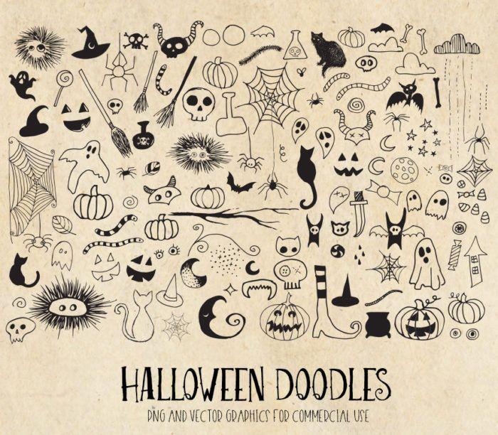 Halloween Doodles Clipart Halloween doodle, Bullet
