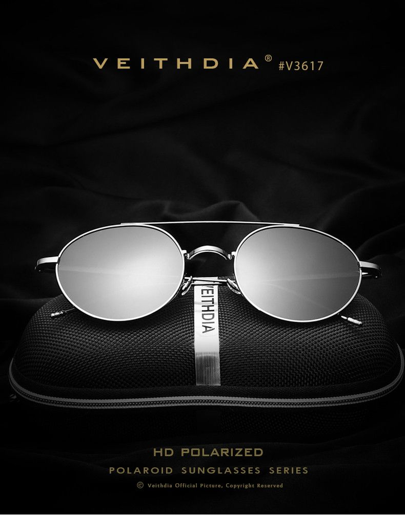 856045fe068 VEITHDIA Brand Fashion Unisex Sun Glasses Polarized Coating Mirror  Sunglasses Round Male Eyewear For Men Women 3617 - The Bargain Paradise