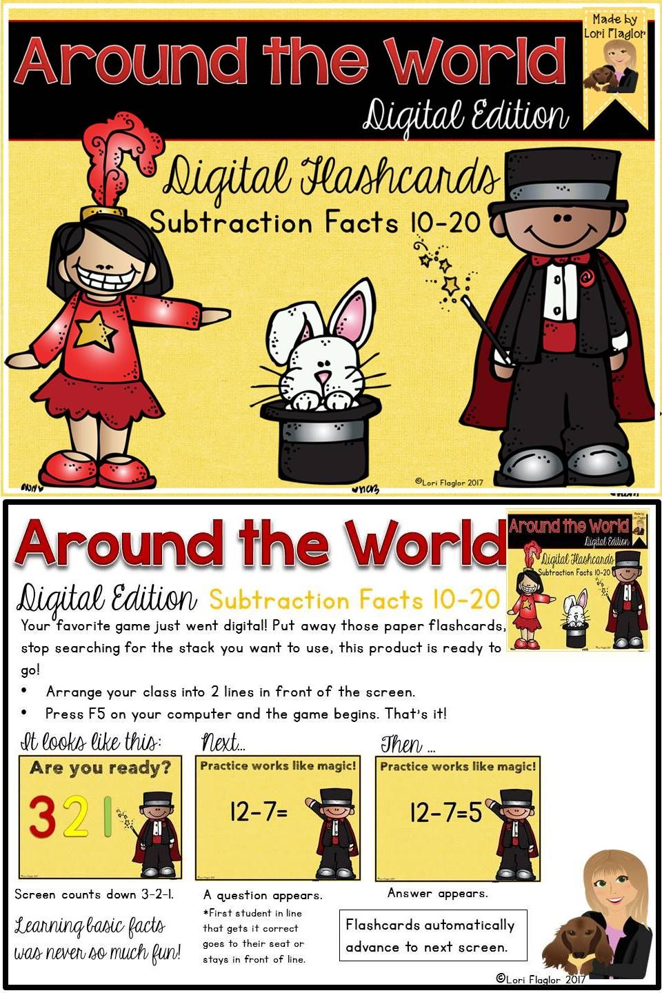 Around the World Digital Edition Subtraction Differences
