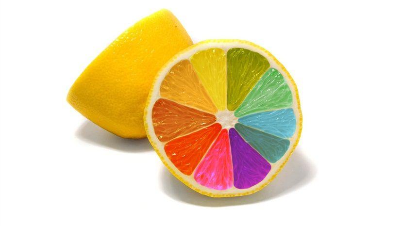 Diferente combinación de colores con el círculo cromático