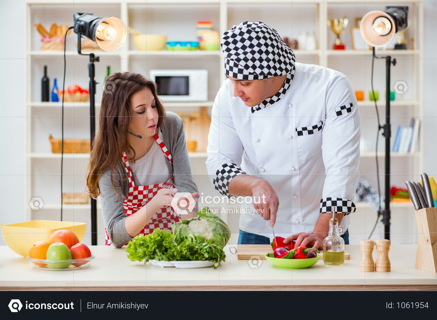 Premium Food Cooking Tv Show In The Studio Photo Download In Png Jpg Format Cooking Tv Cooking Recipes Cooking Icon